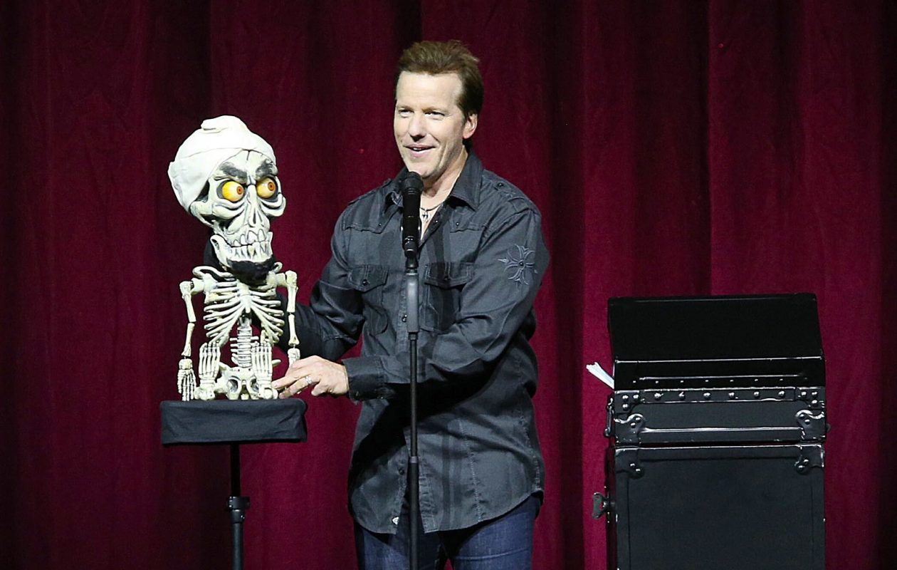 Jeff Dunham, with one of his signature puppets 'Achmed the Dead Terrorist,' is coming to KeyBank Center on April 18. (Robert Kirkham/Buffalo News)