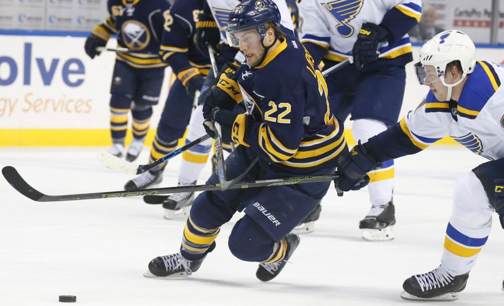 Johan Larsson missed the final 46 games last season. (Harry Scull Jr./Buffalo News file photo)