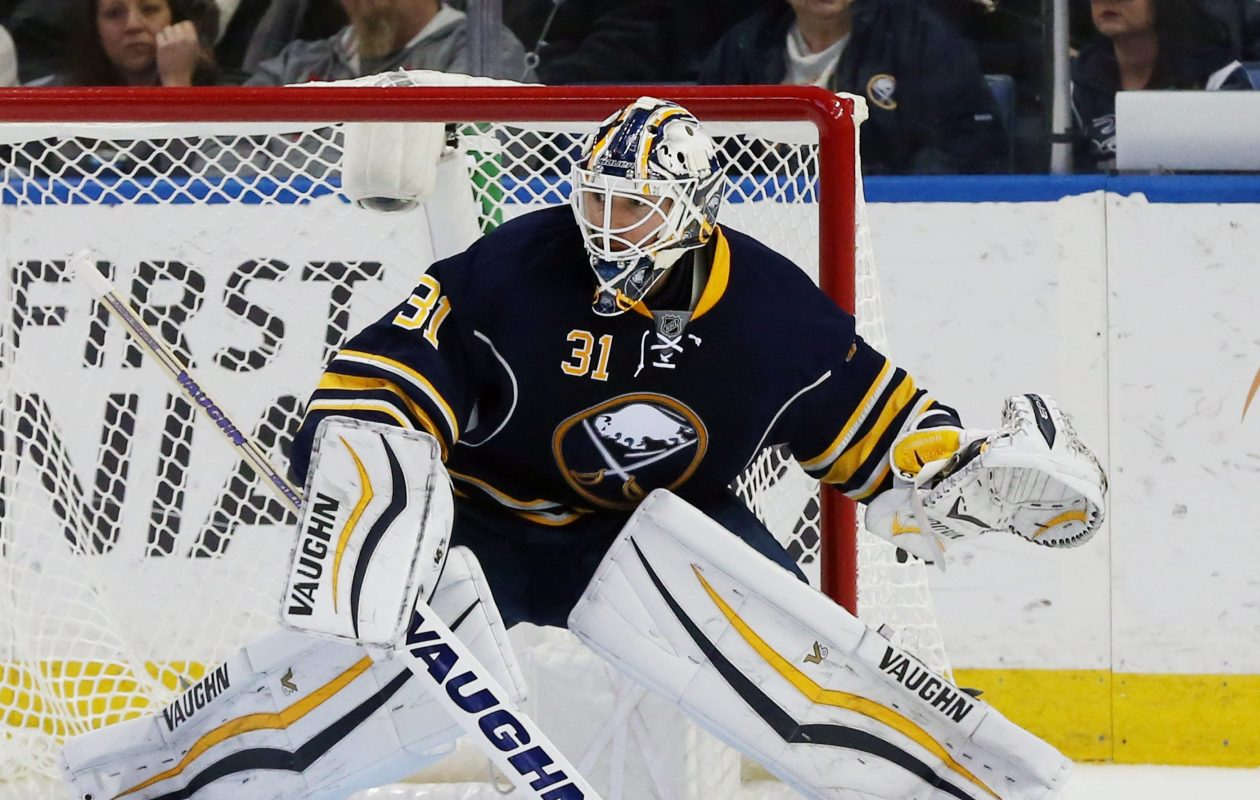 Chad Johnson won 22 games for the Sabres in the 2015-16 season. (James P. McCoy/Buffalo News)