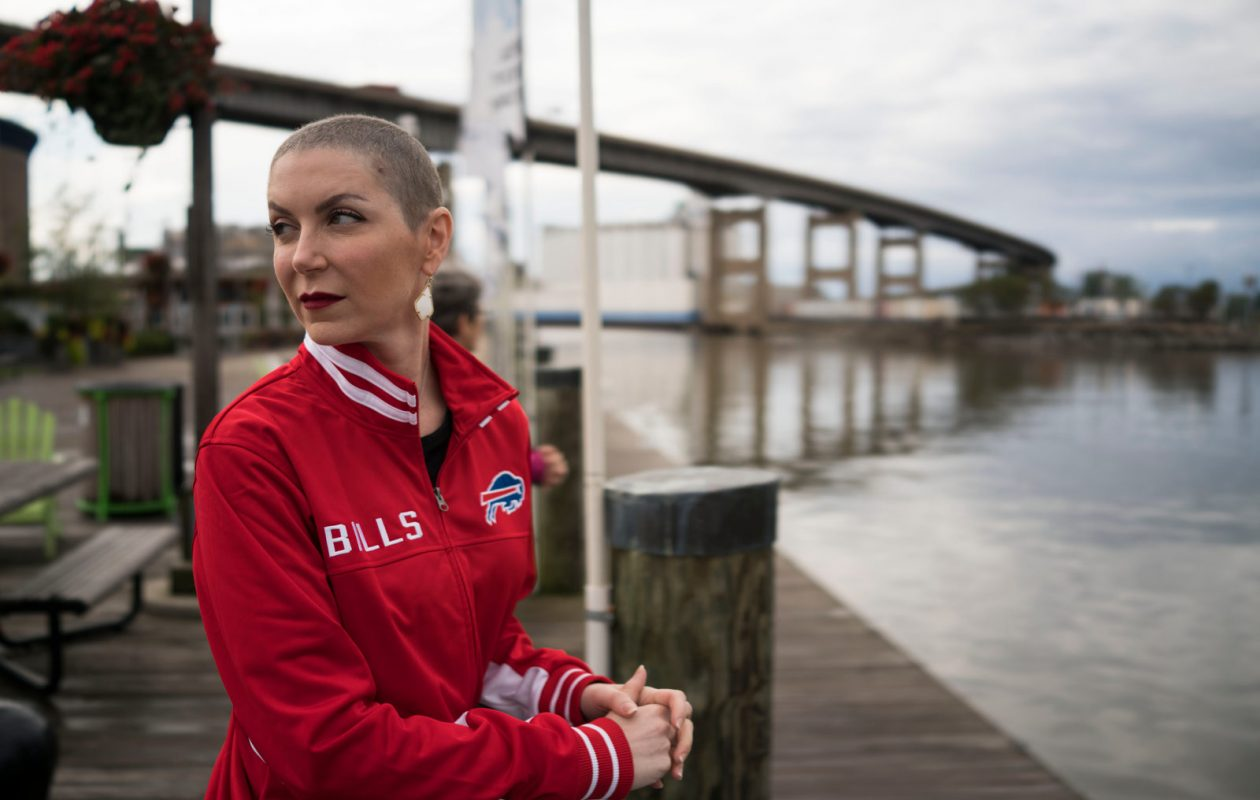 Katie OBrien, a Buffalo native who now lives in Houston, considers herself lucky – no matter such things as hurricanes or cancer diagnoses. (Derek Gee/Buffalo News)