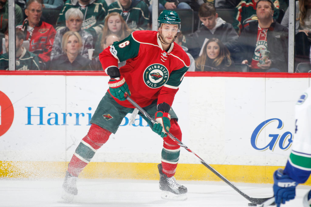 Marco Scandella had hip surgery after the Minnesota Wild was eliminated from the playoffs and has yet to play in an exhibition game for the Sabres. (Getty Images)