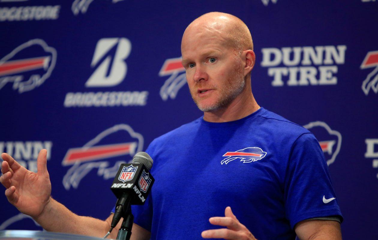 Buffalo Bills head coach Sean McDermott speaks to the media. (Harry Scull Jr./News file photo)