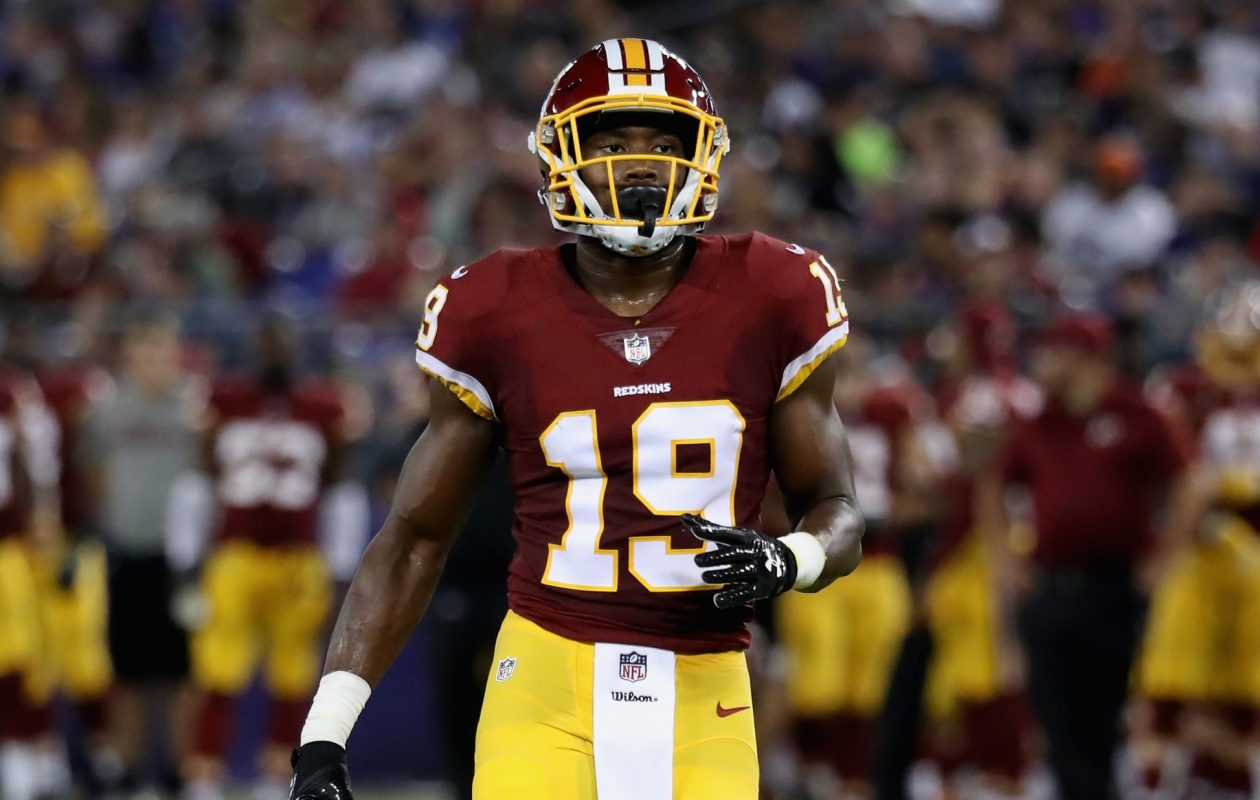 Wide receiver Robert Davis is on Washington's practice squad. (Getty Images)
