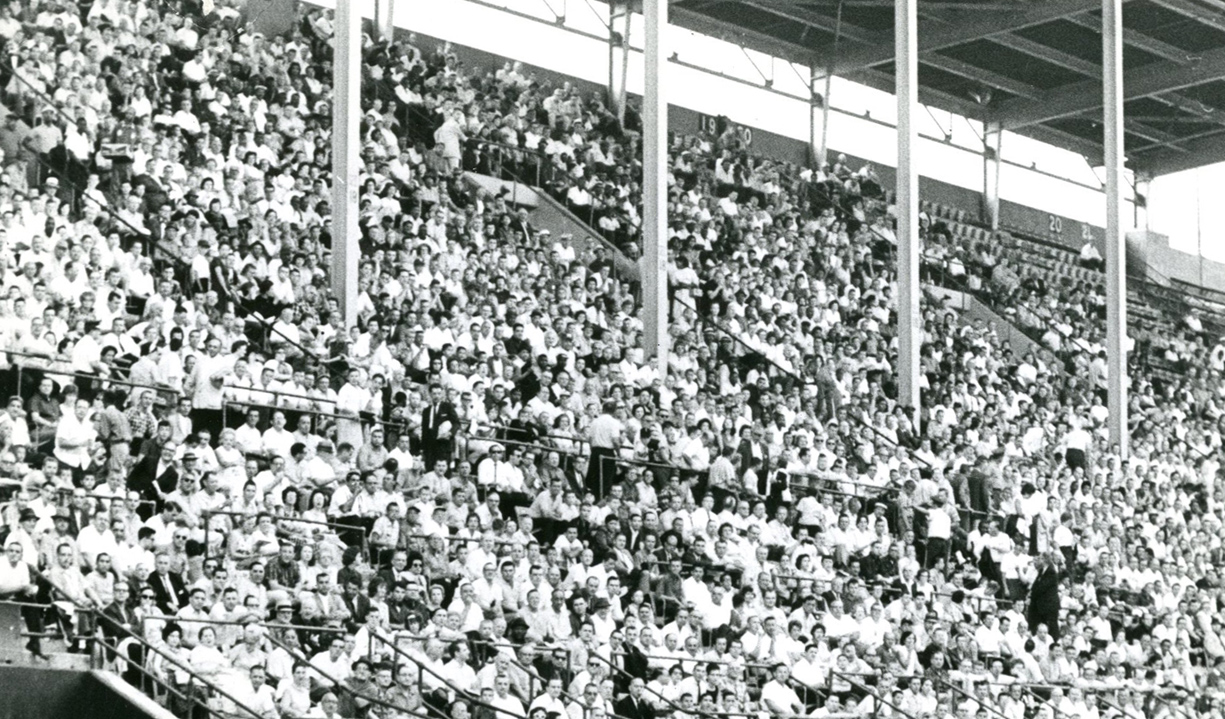 "On this date in 1962, 5,000 ""lucky"" fans in the Rockpile were given rabbit's feet in a bid to turn the Bills' luck around. (News file photo)"