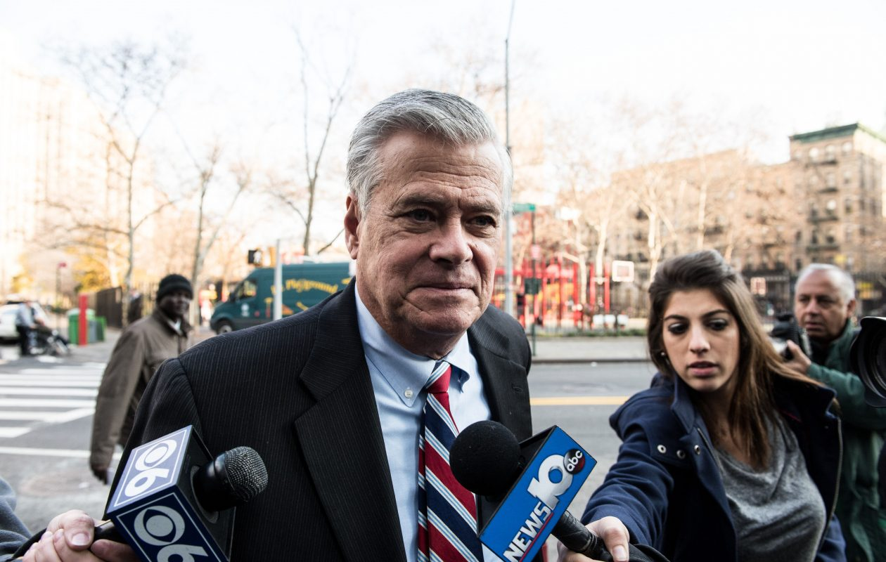 Dean Skelos, the former New York State Senate majority leader, arrives at a session of his corruption trial in New York City in December 2015.  (New York Times photo)