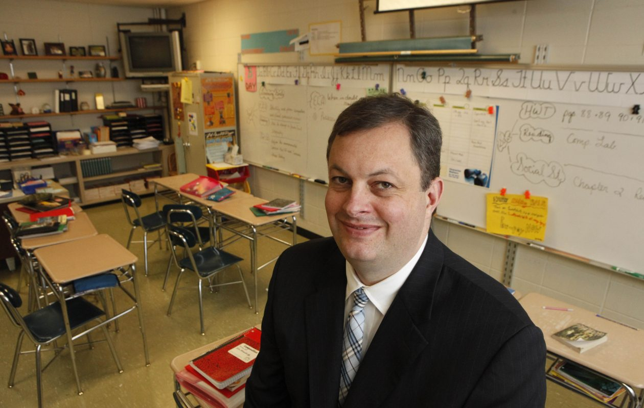 Scott G. Martzloff, superintendent of the Williamsville Central School District, at Casey Middle School in a file photo from Nov. 30, 2011.   {Photo by Derek Gee / Buffalo News}