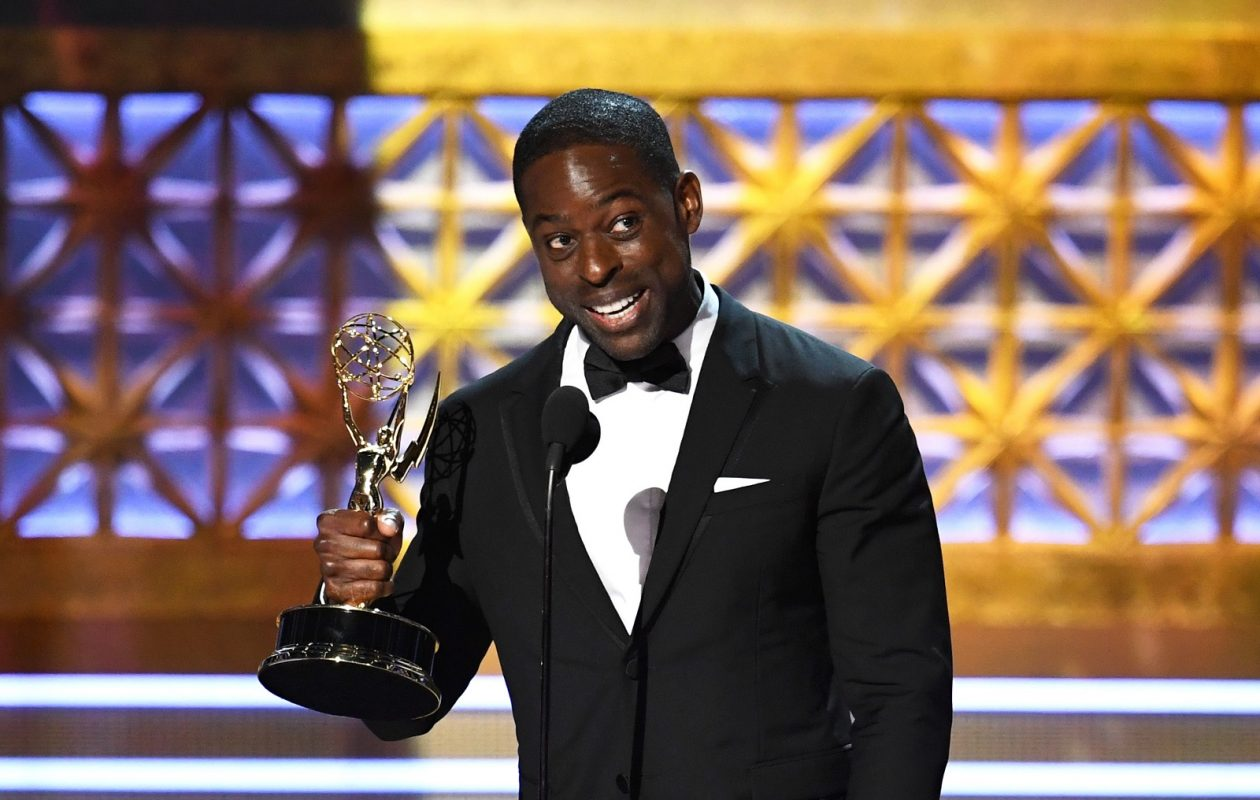 Sterling K. Brown accepts Outstanding Lead Actor in a Drama Series for 'This Is Us' during the 69th Annual Primetime Emmy Awards (Kevin Winter/Getty Images)