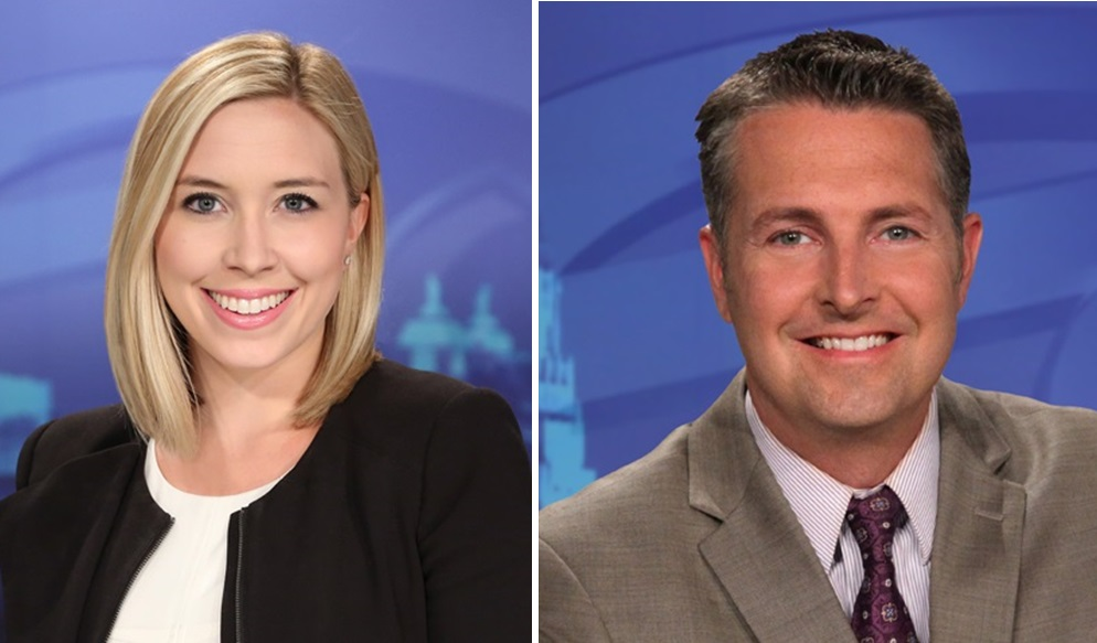 """Hannah Buehler, left, and Aaron Mentkowski play big roles in Channel 7's more informal """"The Now, Buffalo."""" (via WKBW)"""