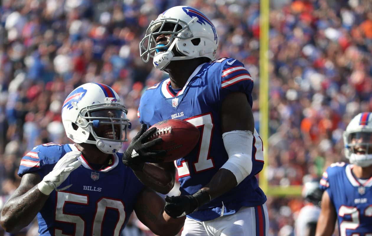 Buffalo Bills cornerback Tre'Davious White's positive overall grade was the 21st-highest among 91 qualifying cornerbacks against the Buccaneers.  (James P. McCoy/Buffalo News)