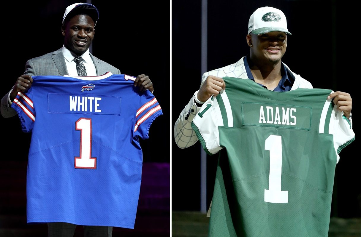 College teammates, close friends and NFL first-round picks Tre'Davious White, left, and Jamal Adams will compete against each other in Week 1. (Getty Images)