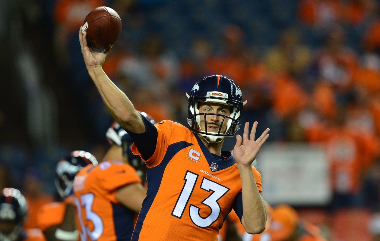 After two weeks, Denver Broncos quarterback Trevor Siemian leads the NFL with six touchdown passes. (Getty Images)