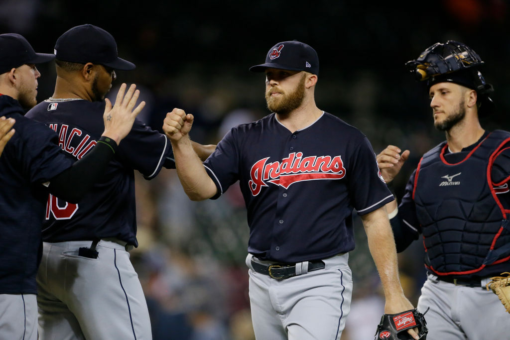 Closer Cody Allen and the Indians have been giving it up to each other on a nightly basis during their franchise-record winning streak (Getty Images).