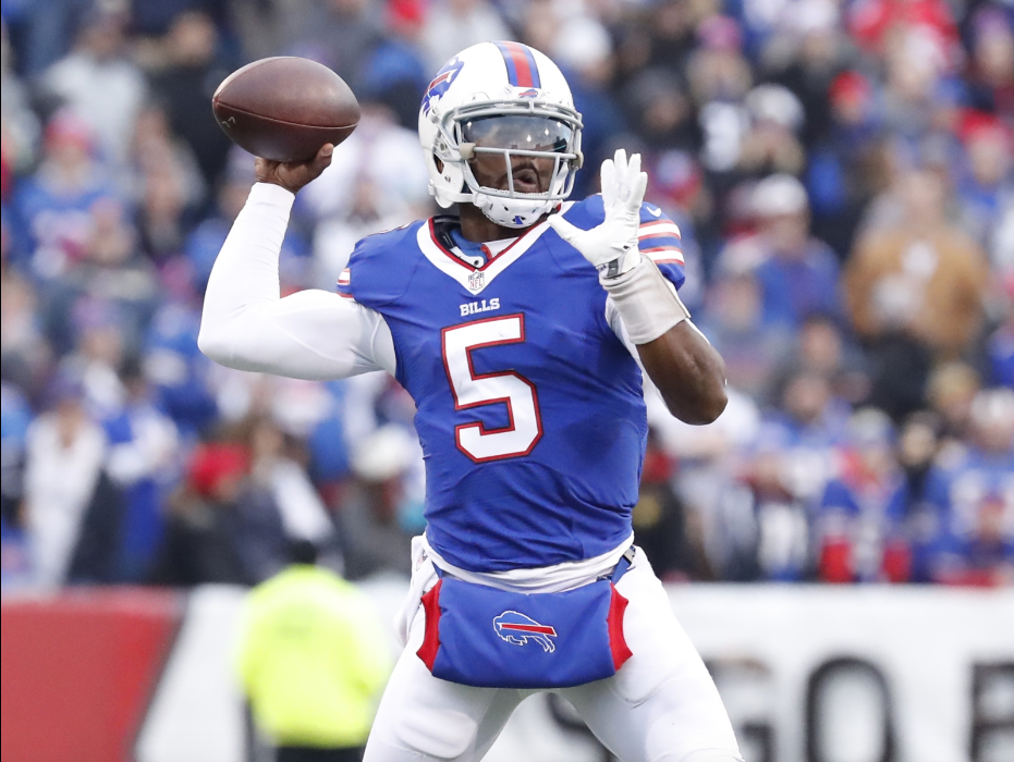 Bills quarterback Tyrod Taylor says he is still developing chemistry with his new receivers. (Harry Scull/Buffalo News)