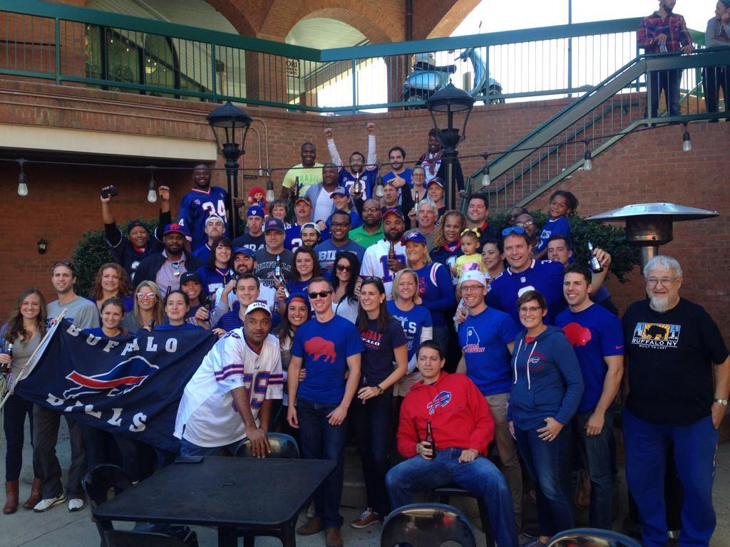 The Bills Backers of Atlanta have been meeting at Whitehall Tavern since 2004. (Courtesy of Alex Del Pozzo)