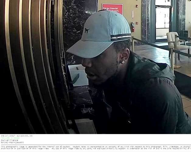 Buffalo police say this man robbed a KeyBank branch on Main Street on Wednesday. (Photo courtesy Buffalo Police)