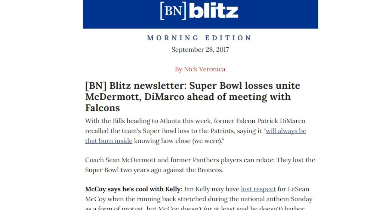 Here is how the [BN] Blitz newsletter can appear in your inbox each morning.
