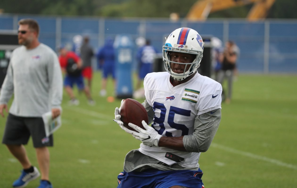 Bills tight end Charles Clay said, 'I know it doesn't seem that way on the outside, but all we have is all we need.' (James P. McCoy/Buffalo News)