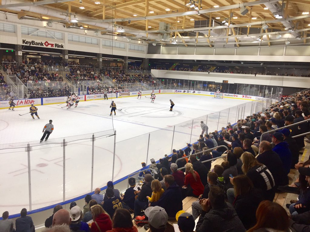 The fans came to watch the Sabres' prospects Friday night in HarborCenter. (John Vogl/Buffalo News)