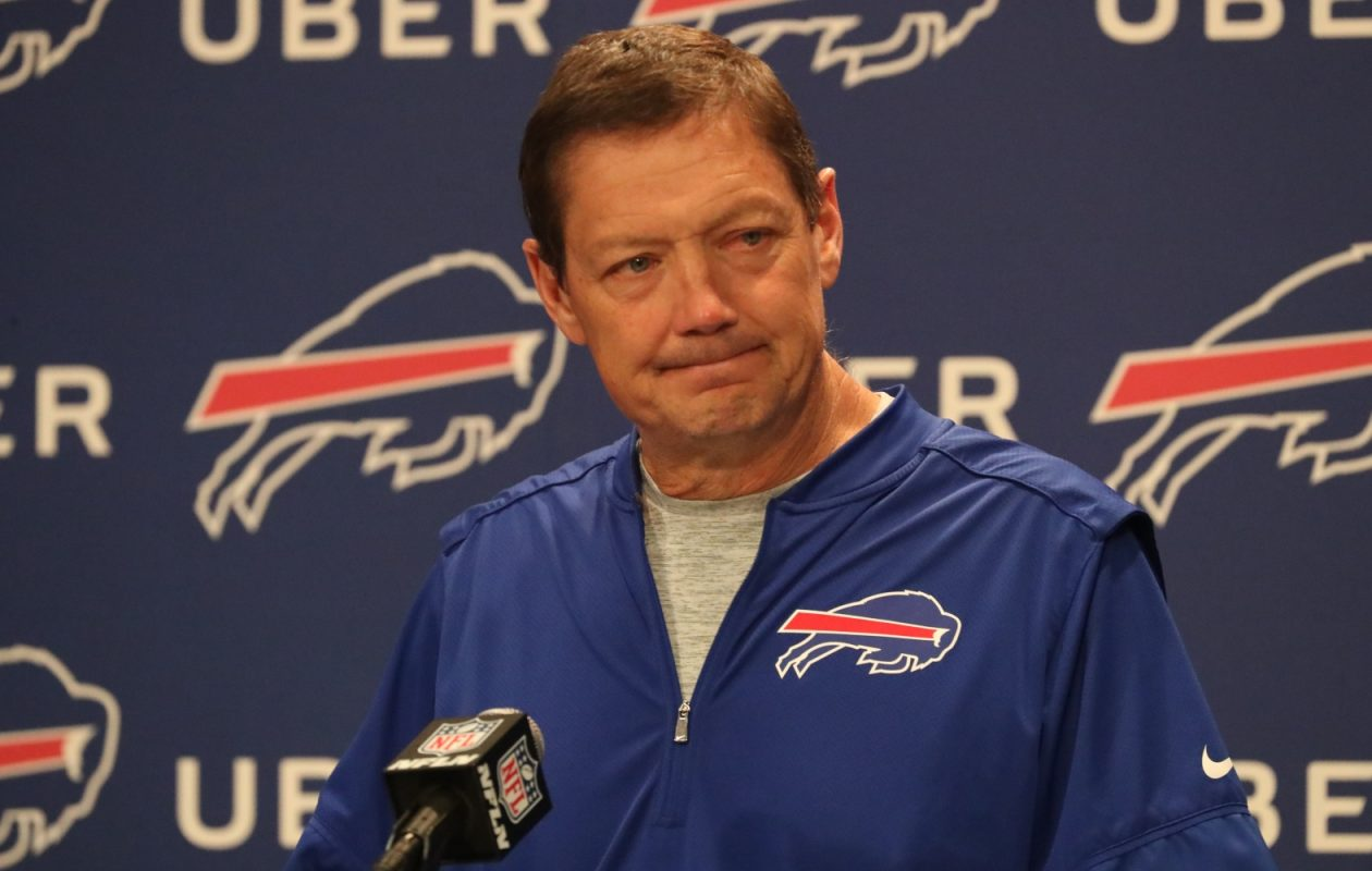 Bills OC Rick Dennison (James P. McCoy/Buffalo News)