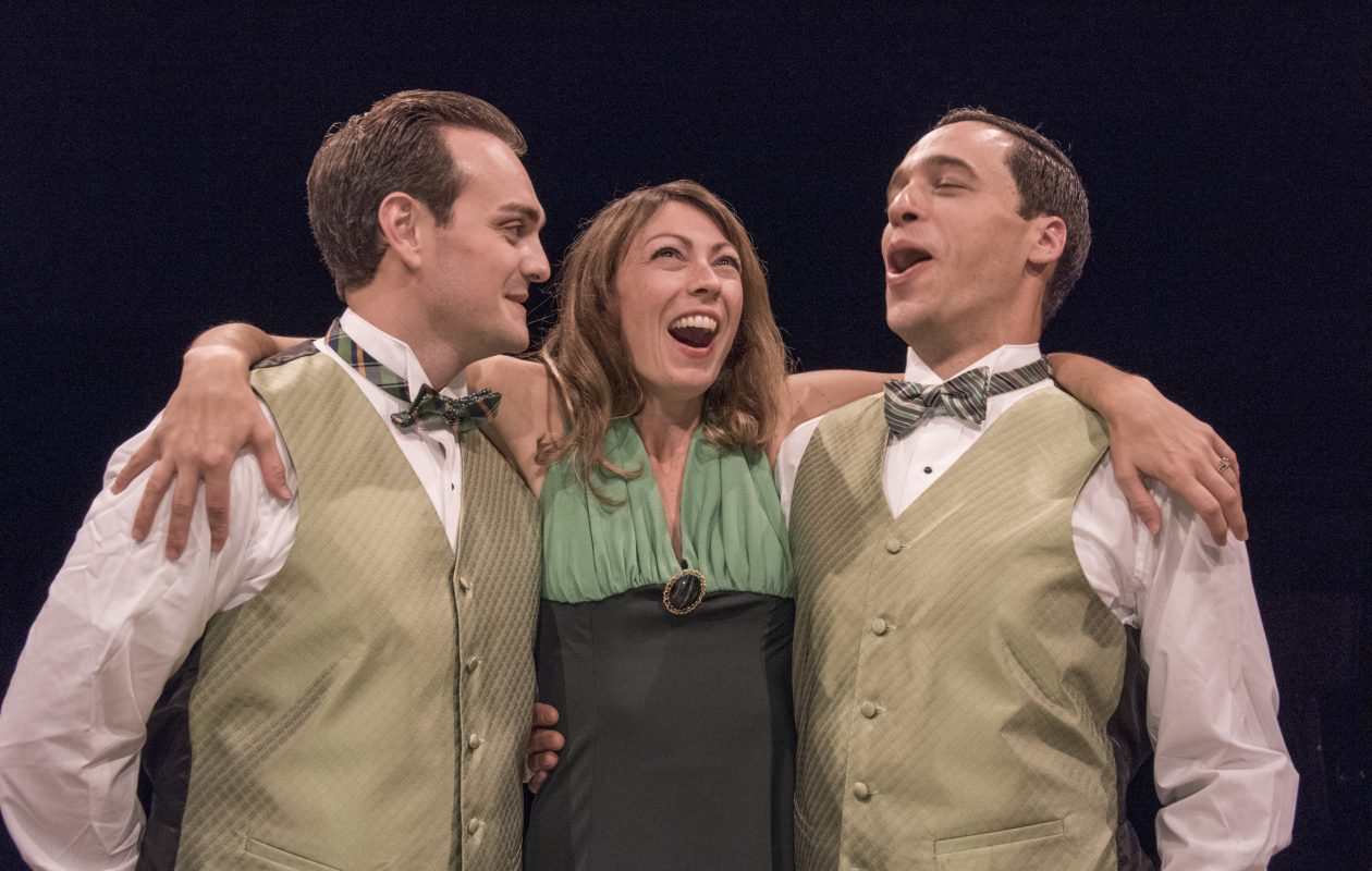 Adiano Gatto, Kate LoConti and Ben Michael Moran are featured in the Irish Classical Theatre Company's production of Noel Coward's 1932 play 'Design for Living.'
