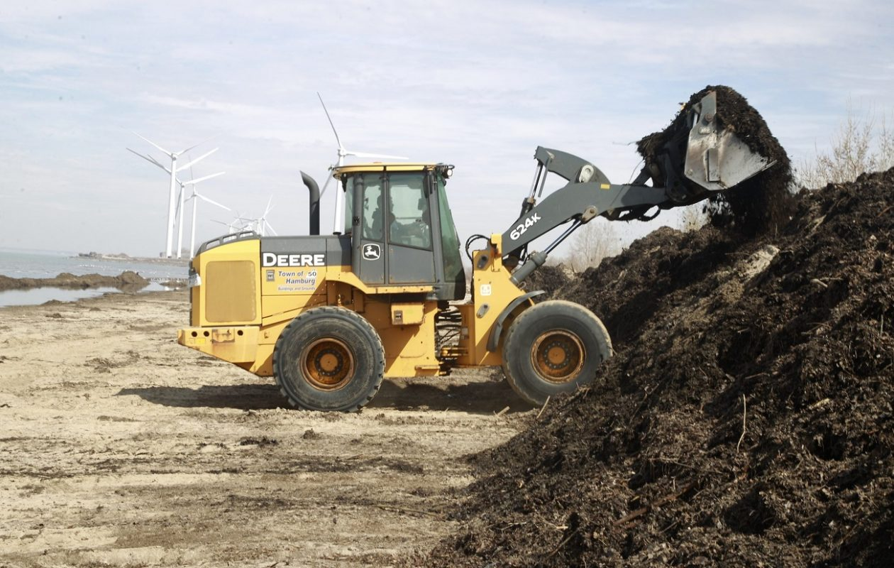 A front-end loader, similar to the one pictured here, was stolen from a construction site in Niagara Falls earlier this week. (John Hickey/Buffalo News file photo)