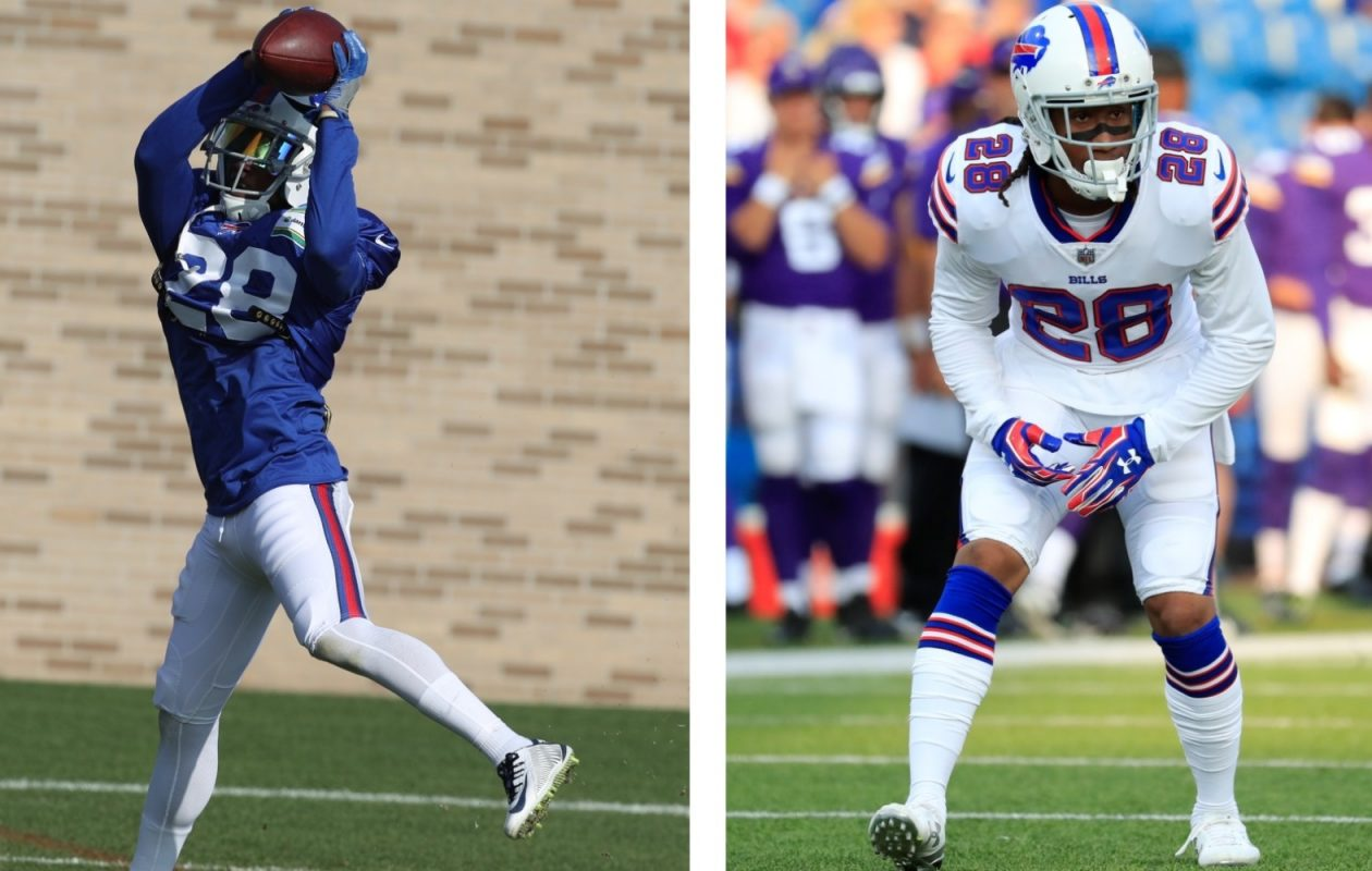 E.J. Gaines does not possess the same athleticism and Ronald Darby. (James P. McCoy and Harry Scull Jr./Buffalo News)