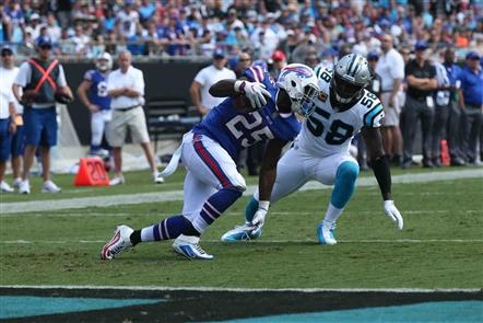 LeSean McCoy had nowhere to run Sunday. (James P. McCoy/Buffalo News)
