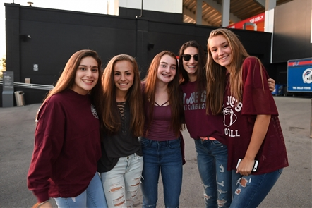 Smiles at Canisius vs. St. Joe's Football Game