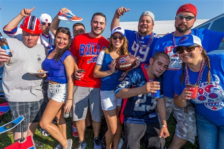 Smiles at Bills vs. Broncos tailgate