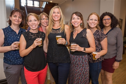 Smiles at the 42 North Beer Pairing at Hotel Henry