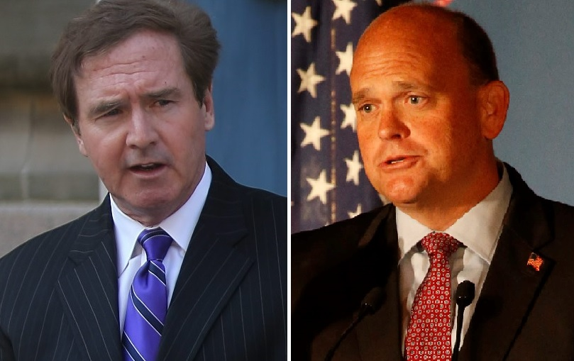 Rep. Brian Higgins, D-Buffalo, and Rep. Tom Reed, R-Corning, are concerned about any plans to eliminate the  deduction for  state and local taxes. (News file photos)