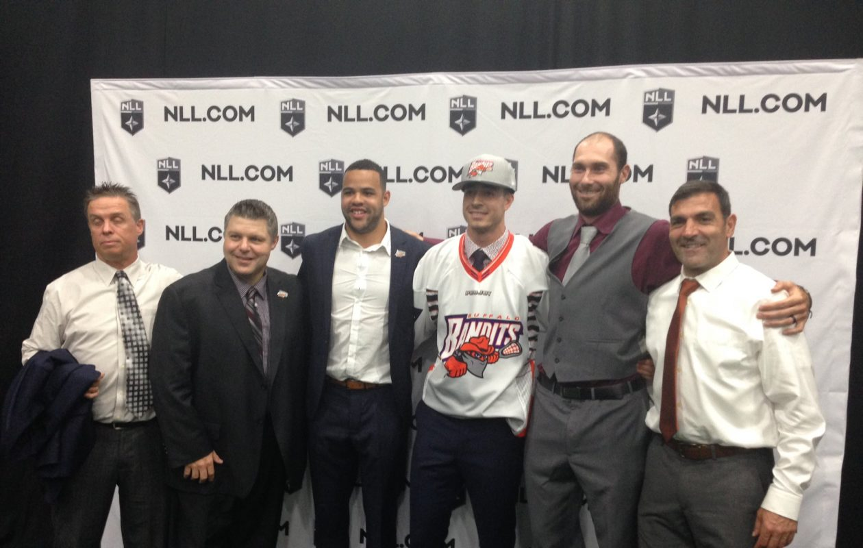 Josh Byrne is welcomed to the Buffalo Bandits and the NLL. (Jack Goods/Buffalo News)