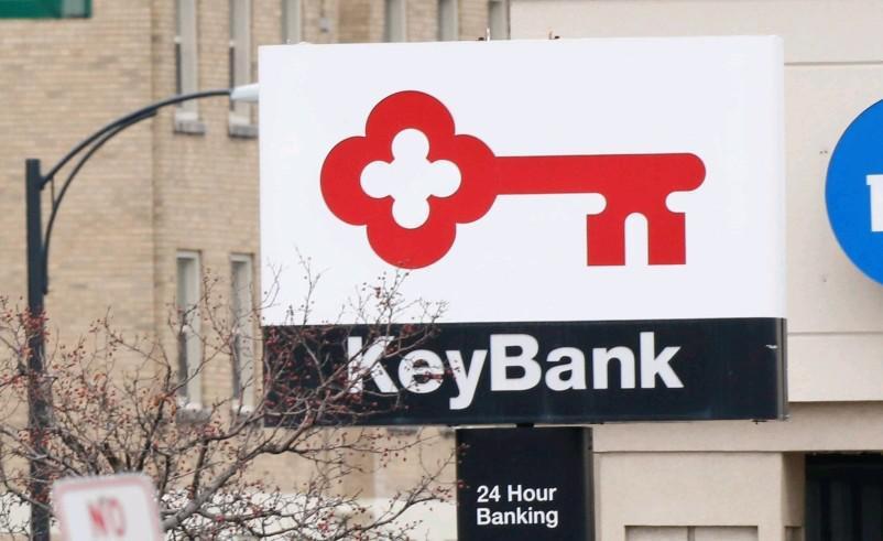 A KeyBank sign in Buffalo. (Derek Gee/Buffalo News)