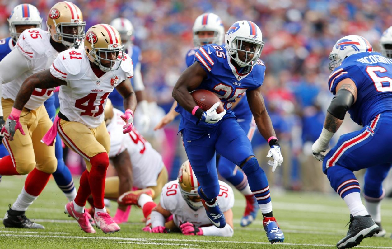 The Buffalo Bills acquired running back LeSean McCoy in a trade for linebacker Kiko Alonso in 2015. (Mark Mulville/News file photo)