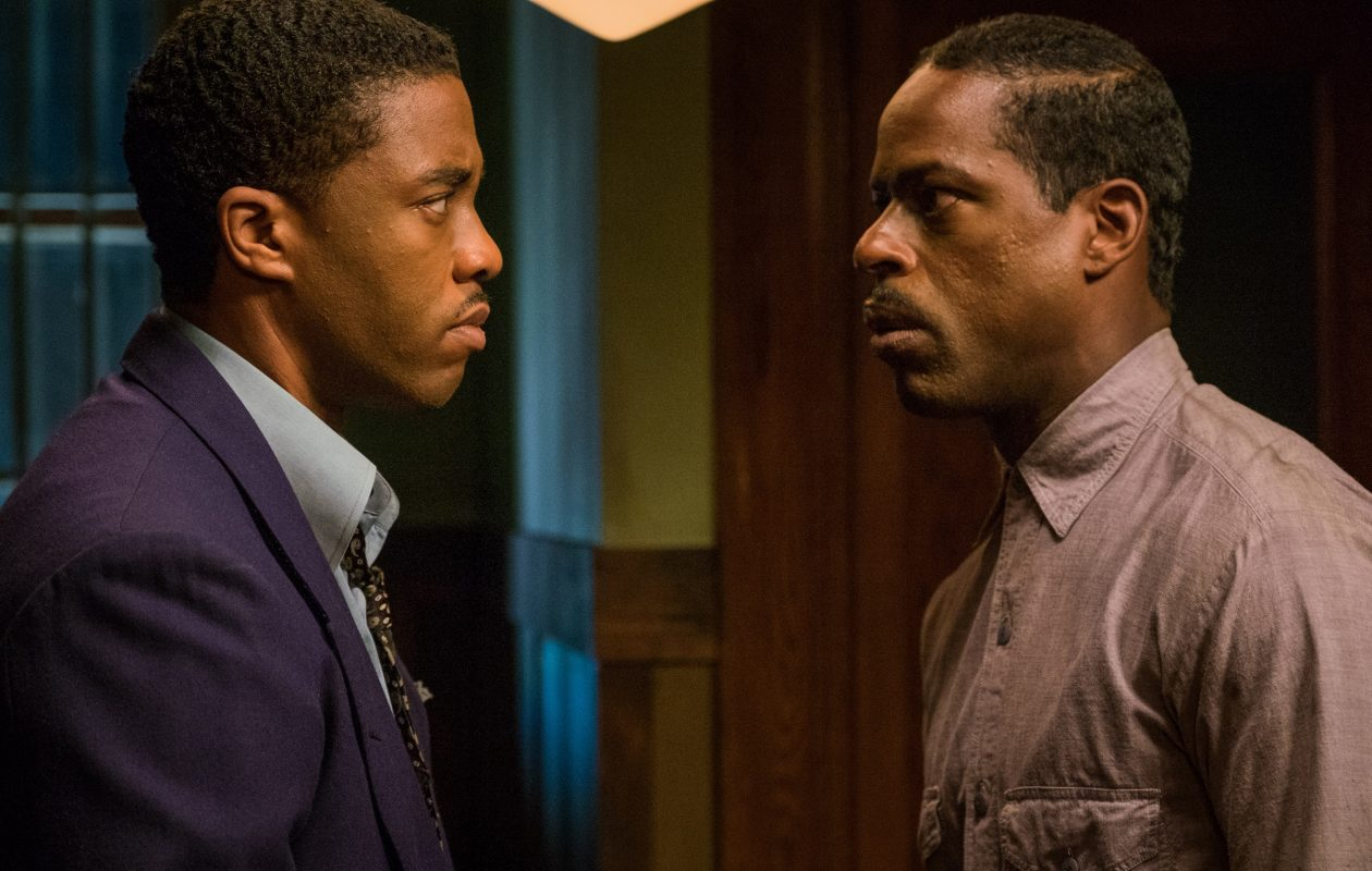 "Chadwick Boseman, left, and Sterling K. Brown give great performances in the Buffalo-made ""Marshall."""
