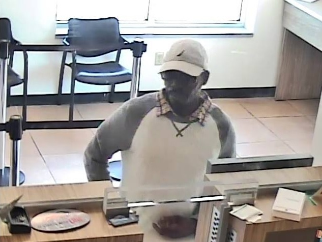 The suspect robbed the M&T Bank branch on Jefferson Avenue at about 1:40 p.m. Monday. (Photo courtesy of Buffalo Police Department)