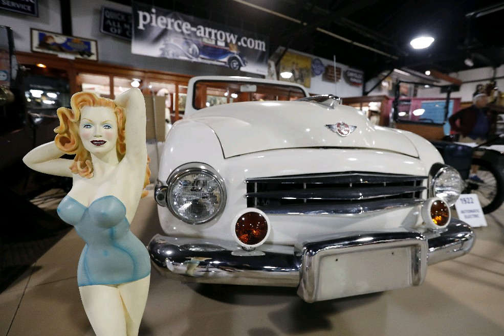 The 1948 Playboy car that was built in Buffalo and is now part of Jim Sandoro's collection at the Buffalo Transportation/Pierce-Arrow Museum in Buffalo Thursday. (Mark Mulville/Buffalo News)