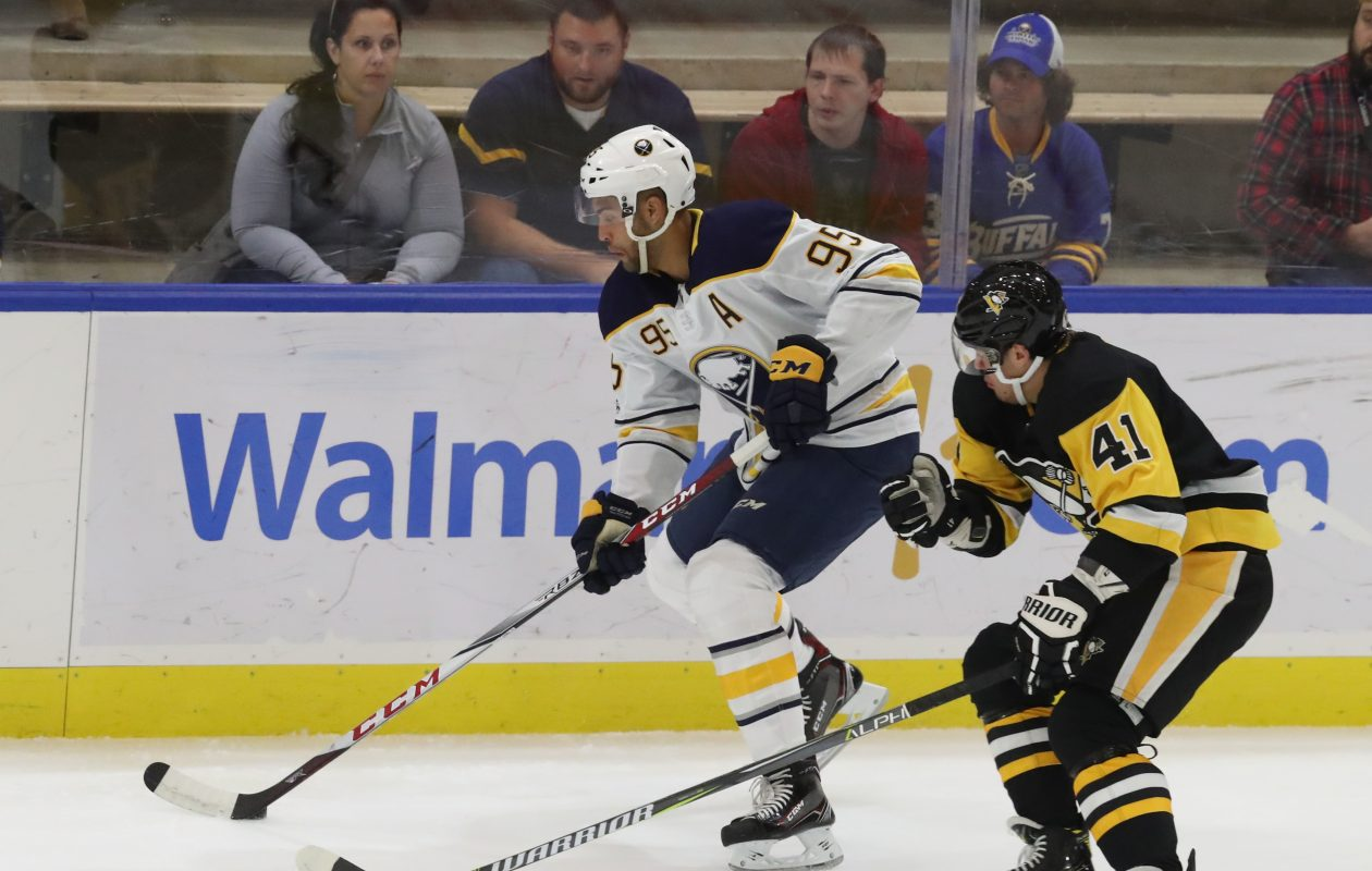 Justin Bailey and the Sabres will have all their preseason games on the radio. (James P. McCoy/Buffalo News)
