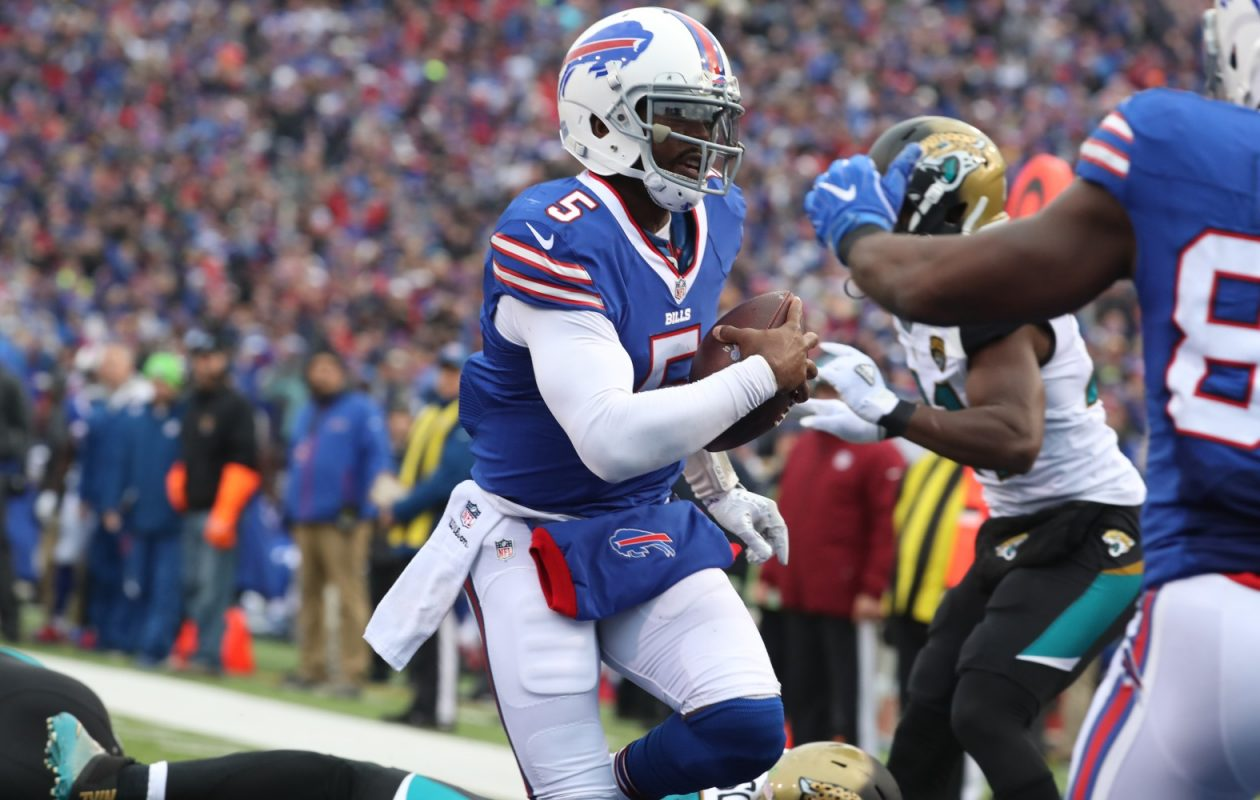 Tyrod Taylor's return was the main topic on today's Daily Drive podcast.  (James P. McCoy/Buffalo News)