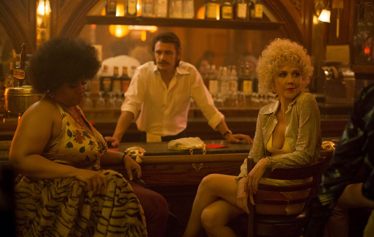 "Pernell Walker, left, James Franco and Maggie Gyllenhaal star in HBO's ""The Deuce."" (Paul Schiraldi, HBO)"