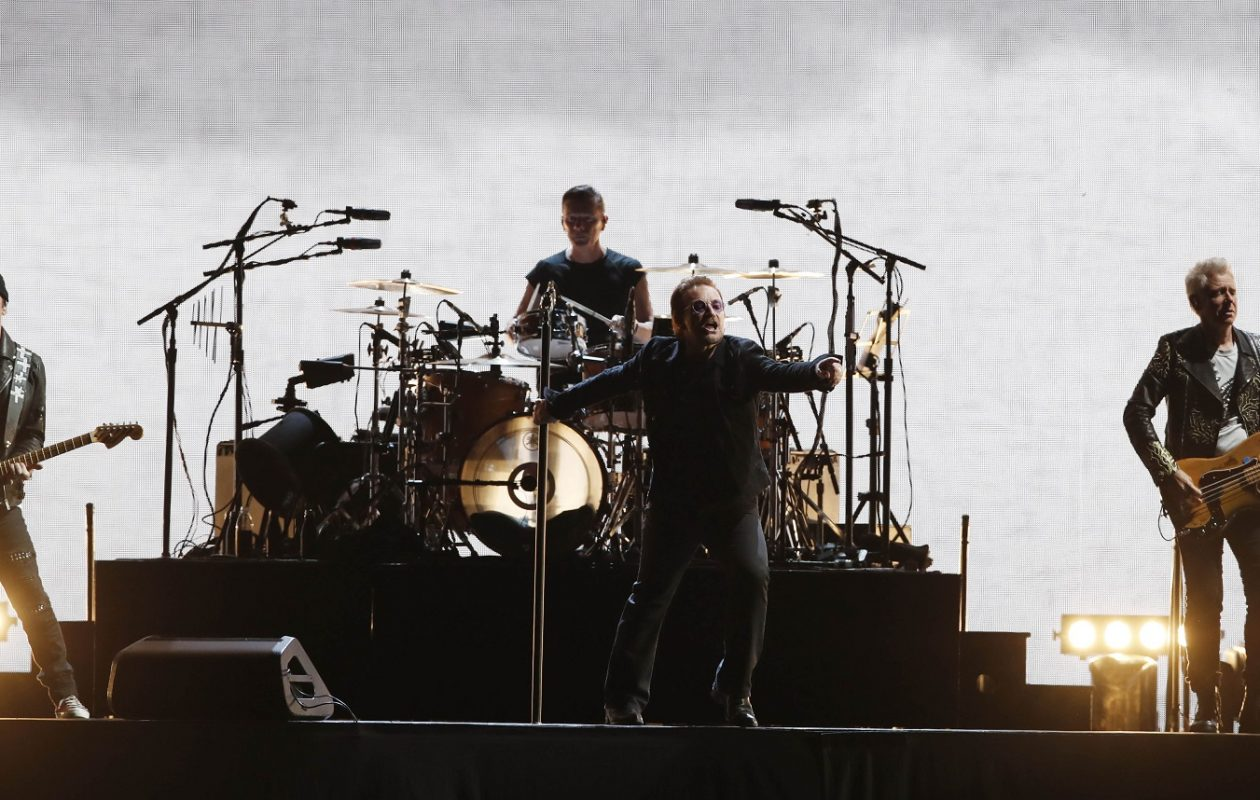 U2 on stage earlier this year at New Era Field. (Sharon Cantillon/Buffalo News)