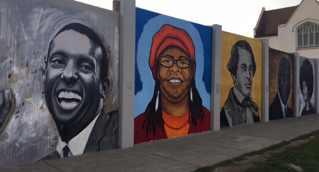 """""""The Freedom Wall"""" was unveiled recently at Michigan Avenue and E. Ferry Street."""