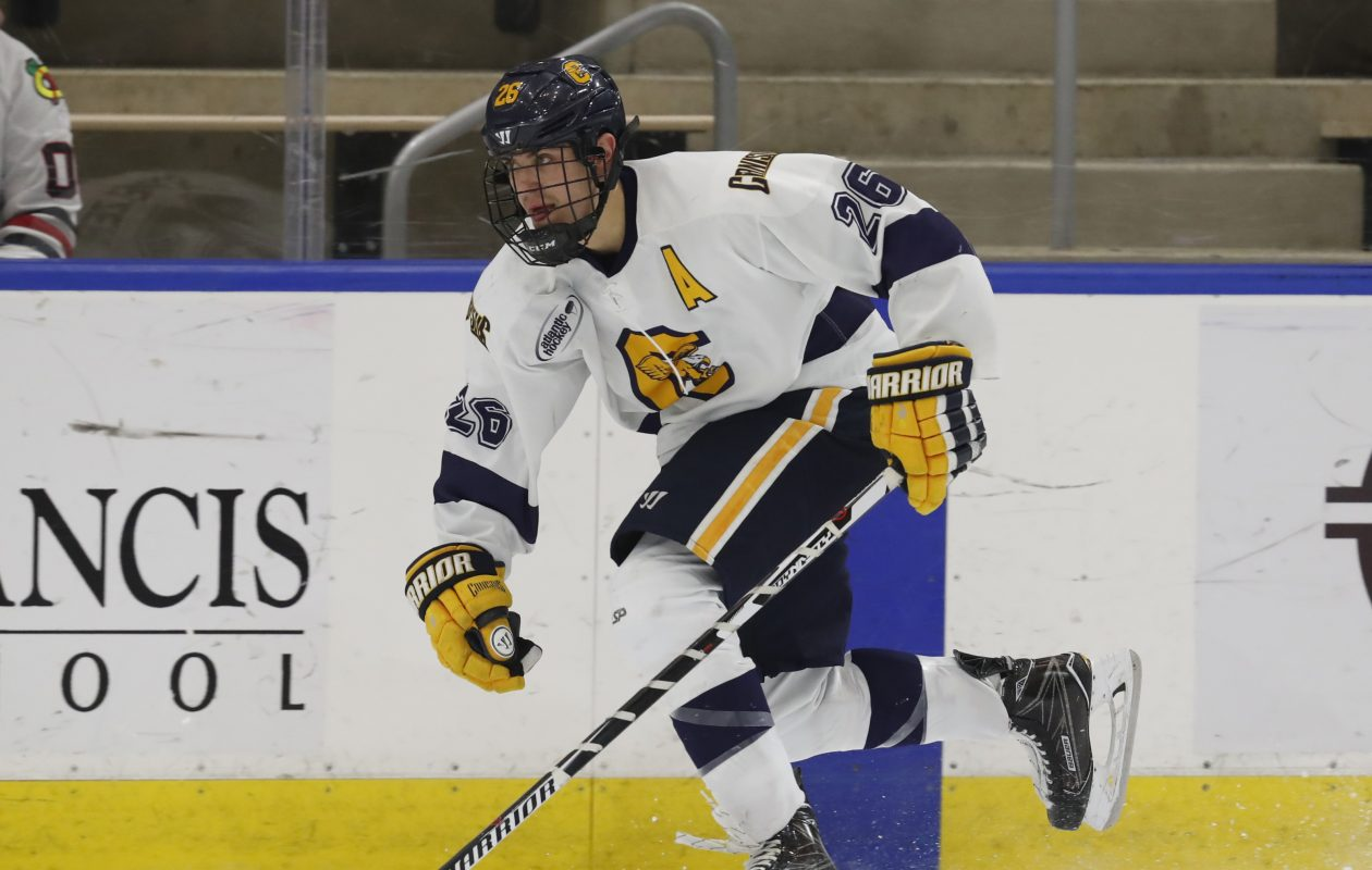 Ryan Schmelzer was a third-team Atlantic Hockey selection. (Harry Scull Jr./Buffalo News)
