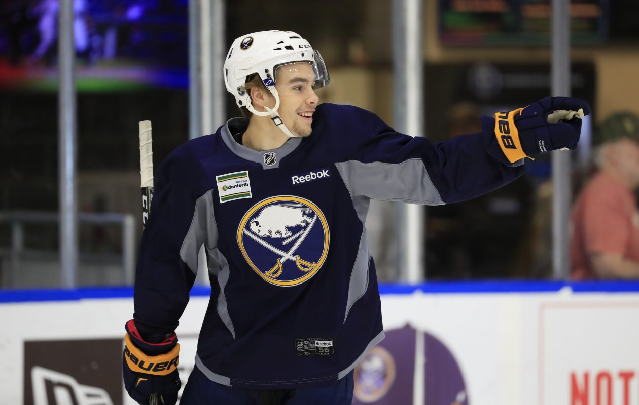 Brandon Hagel, pictured at Buffalo Sabres development camp this past summer, is off to a hot start in juniors. (Harry Scull Jr./Buffalo News)