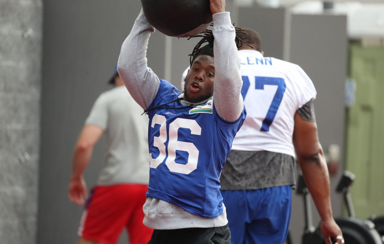 Defensive back Trae Elston (36) is back with the Bills. (James P. McCoy/Buffalo News)