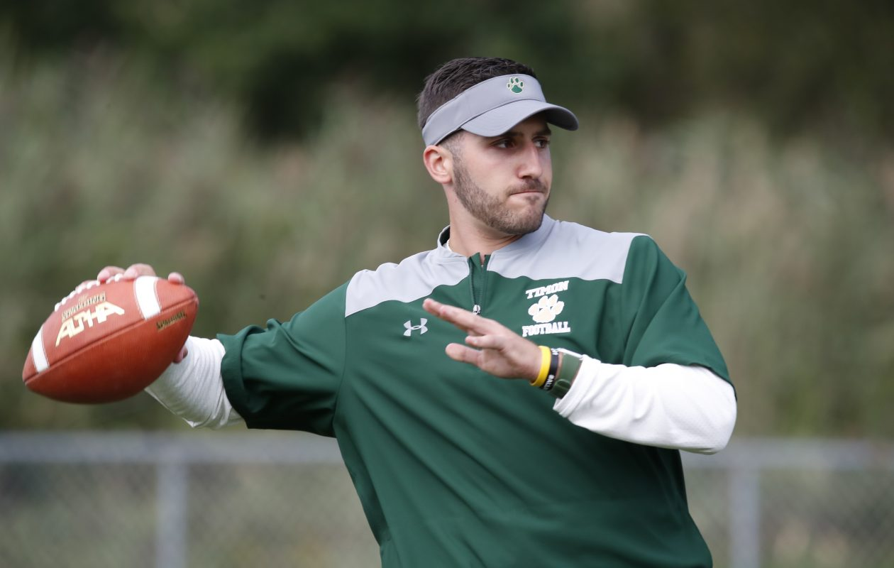 Former UB football star Joe Licata is now the coach at Bishop Timon-St. Jude High School. (Harry Scull Jr./Buffalo News)