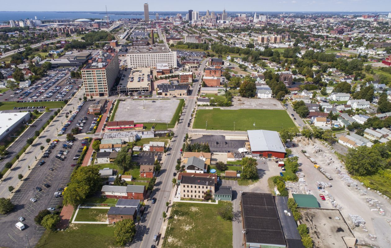 New development has transformed one of the city's oldest industrial areas, but developers have more plans in the works for Larkinville. (Derek Gee/ Buffalo News)