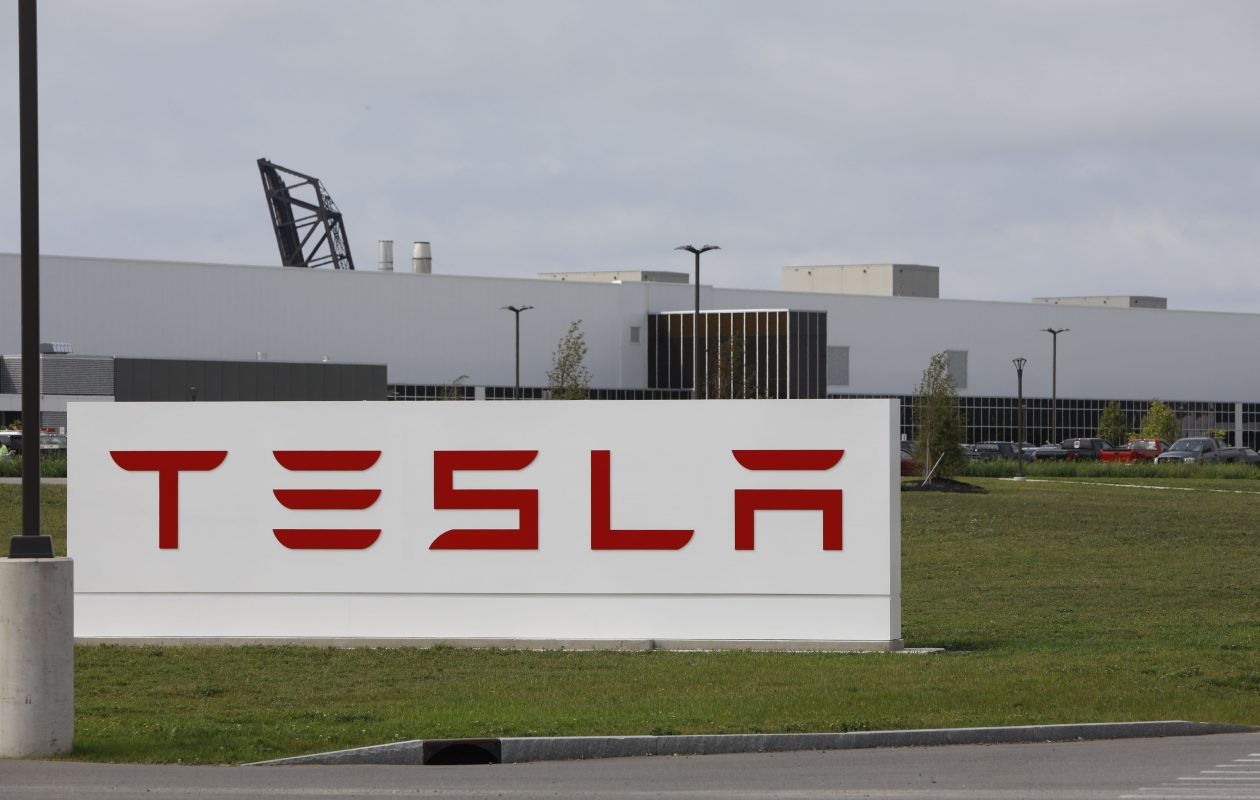 The Tesla plant in South Buffalo has more than 100 employees on site so far.  (Derek Gee/News file photo)