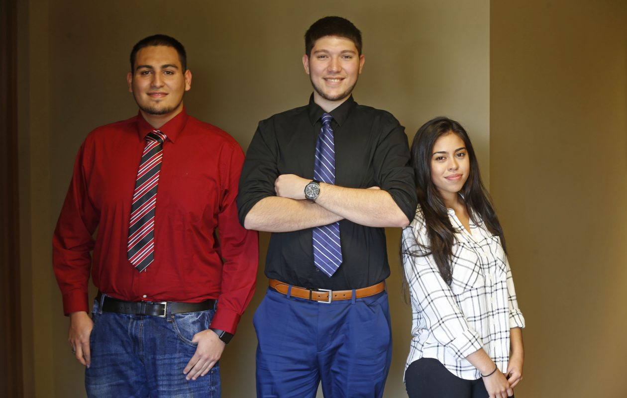 Brothers Cristian and Diego Reynoso and Marina Rumbo: College-educated, and undocumented, as the DACA program nears an end. (Robert Kirkham/The Buffalo News)