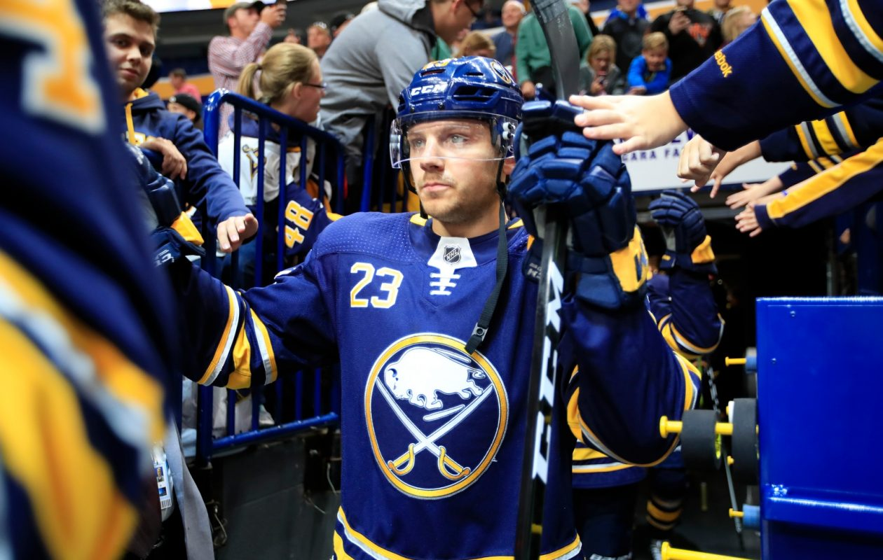 The fans in KeyBank Center will welcome back Sam Reinhart and the Sabres on Thursday. (Harry Scull Jr./Buffalo News)